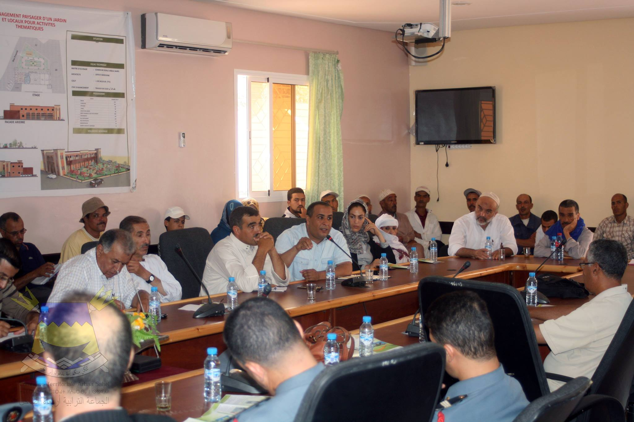 اجتماع موسع بجماعة أربعاء الساحل حول الحشرة القرموزية