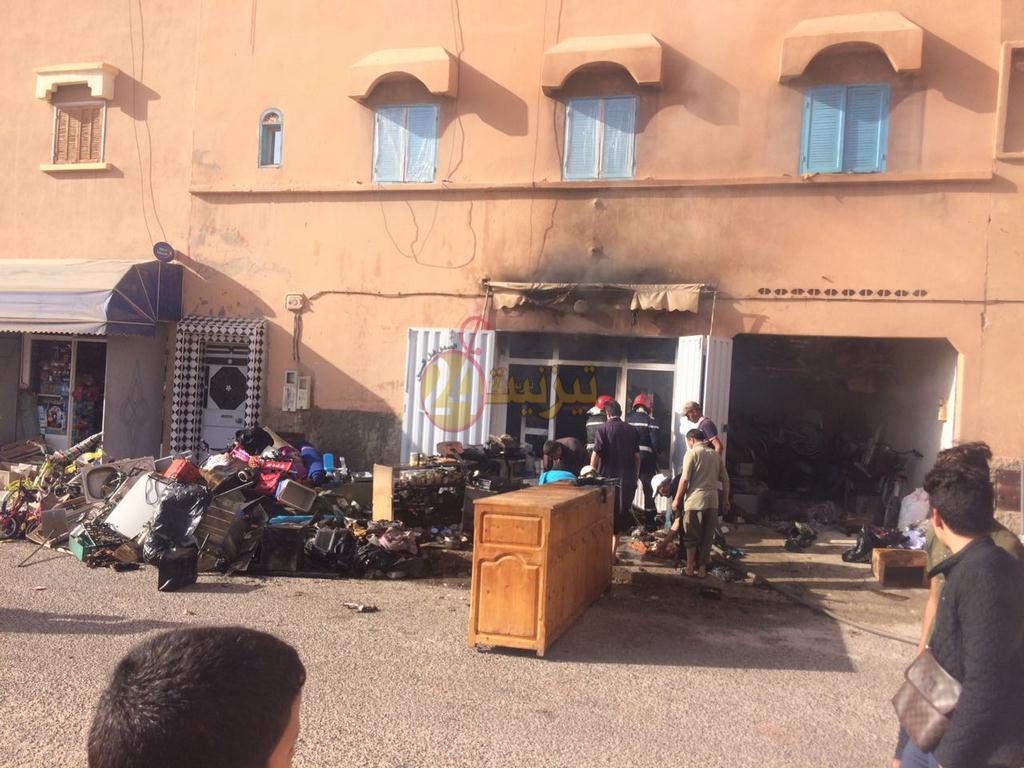 حريق يندلع بمحل تجاري بحي اليوسفية بتيزنيت