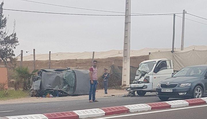 حادثة سير خطيرة بالطريق الوطنية الرابطة بين أكادير وتيزنيت وهذه هي التفاصيل