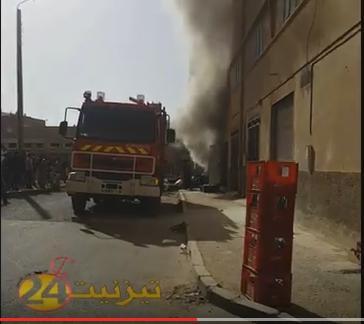 فيديو حريق متجر اليوسفية