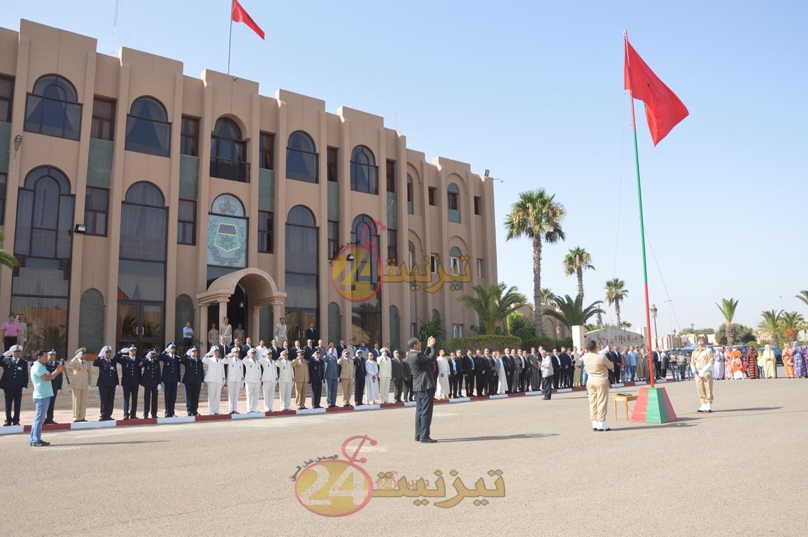 بالصور و الفيديو : مراسيم تحية العلم الوطني بمقر عمالة اقليم تيزنيت