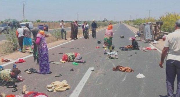 """إنقلاب """"بيكوب"""" يخلف جرح 23 عاملة زراعية باشتوكة، وحقوقيون يستنكرون الحادث"""