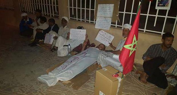 اعتصام ليلي أمام محكمة تيزنيت بسبب الافراج عن شاهدي زور