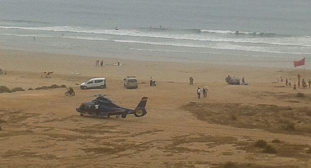 أكادير…هبوط طائرة هيليكوبتر بشكل مفاجئ بشاطئ أورير