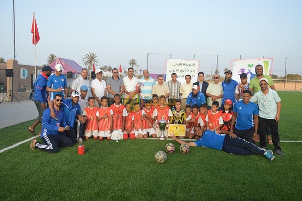 تتويج مدرسة حسنية أكادير بالنسخة الأولى لدوري ترجي تيزنيت لكرة القدم لعيد العرش