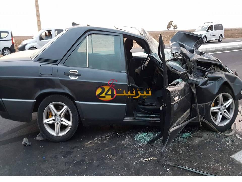 6 جرحى في حادث خطير بالطريق الوطنية بين تيزنيت و اكادير