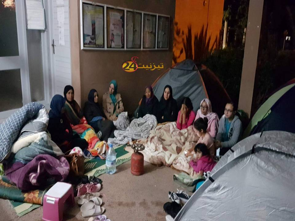في سابقة خطيرة، اعتصام مفتوح في أيام عيد الأضحى بمقر مديرية تيزنيت + فيديو