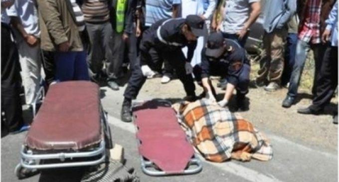 مصرع تلميذة في حادثة سير مؤلمة أمام مدرستها بجماعة سيدي مبارك اقليم سيدي افني