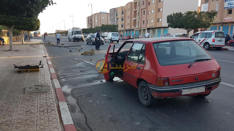 مصرع امرأة خمسينية في حادثة سير بشارع للاعبلة بتيزنيت +صور