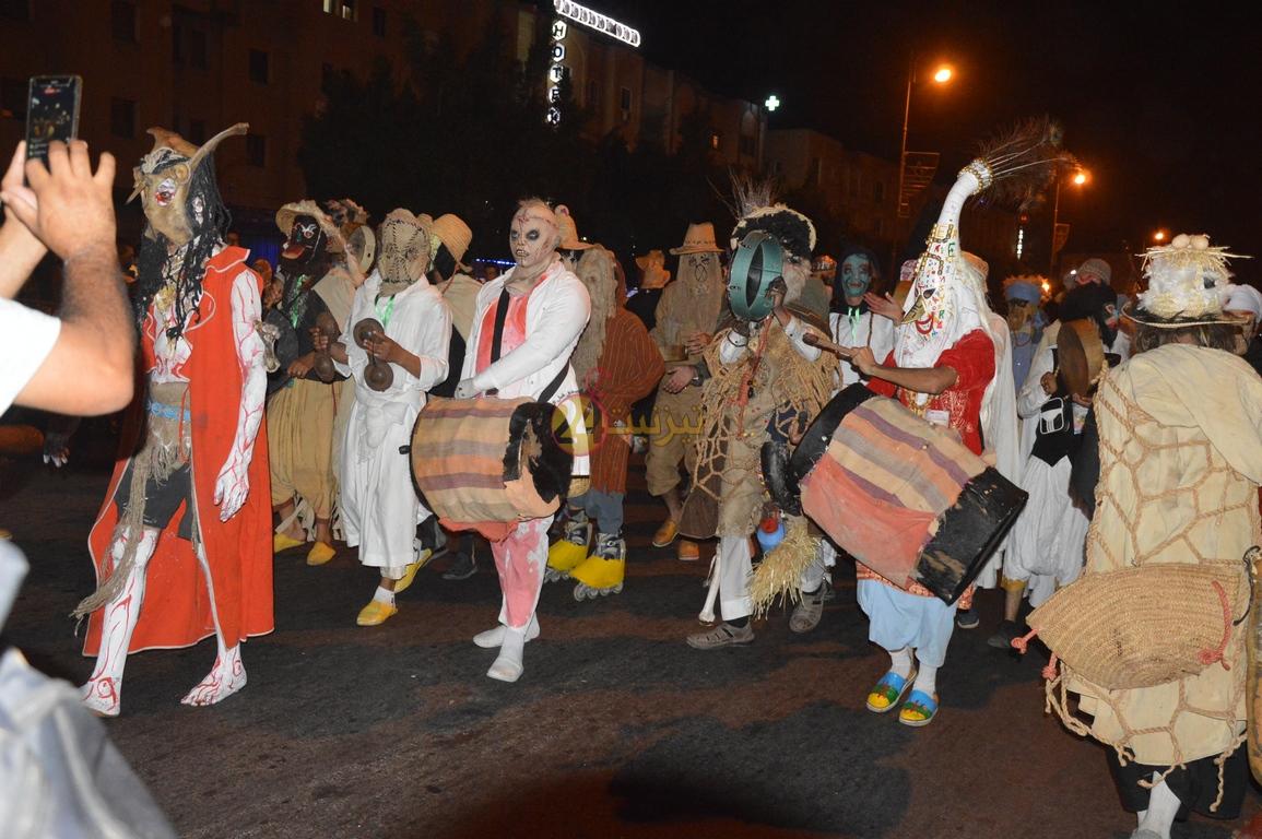 """مسيرة كرنفال """"ماسكاراد امعشار"""" تجوب شوارع تيزنيت + صور"""