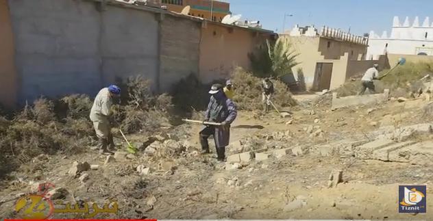 بالفيديو : تنظيف مقبرة الولي الصالح سيدي عبد الرحمان بتيزنيت
