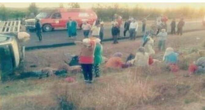 قتيلين ومصابين في حادثة سير خطيرة ضواحي سيدي بيبي