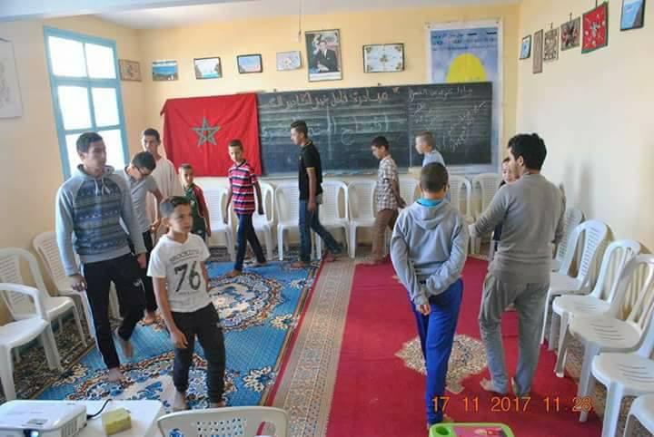 """جمعية """" مبادرة فاعل خير"""" بأكادير تنجز عمليات إصلاح وترميم  لفرعية سيدي بنوار بجماعة أكلو"""