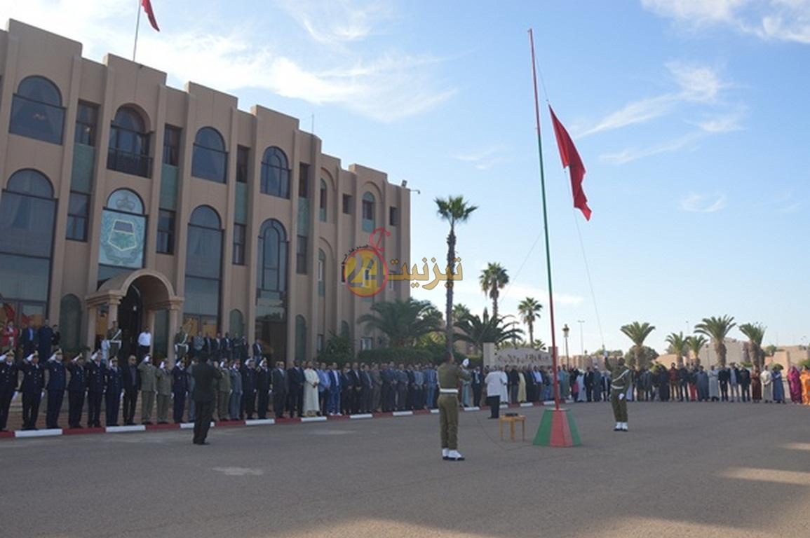بالصور و الفيديو : مراسيم تحية العلم بمناسبة عيد الاستقلال بتيزنيت