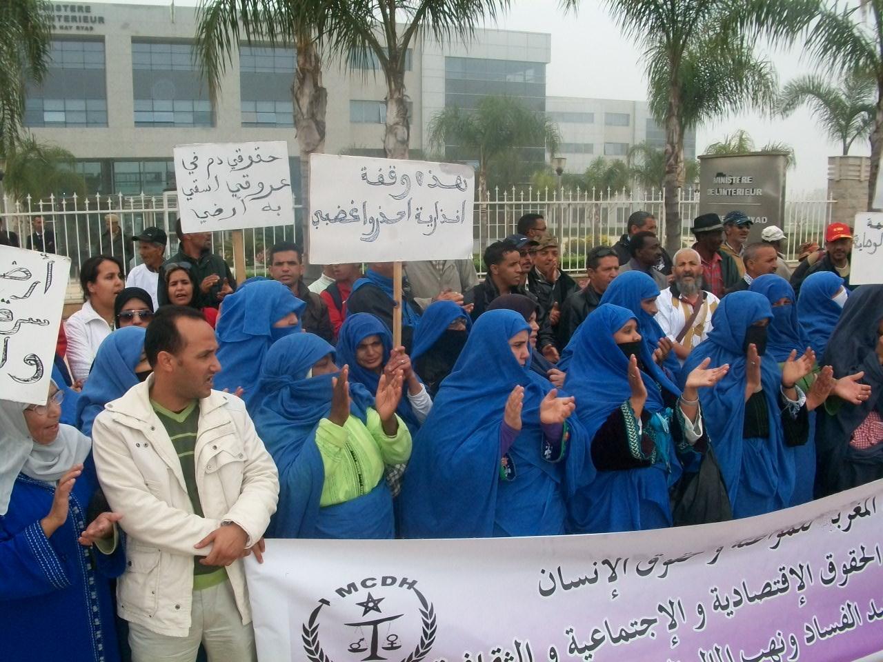 تحفيظ أراضي الجموع لغير ملاكها يخرج سلاليي تارودانت للاحتجاج أمام المحكمة والمحافظة بتارودانت