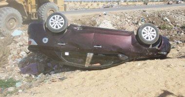العثور على سيارة خفيفة تعرضت لحادث انقلاب بحي دوتركا