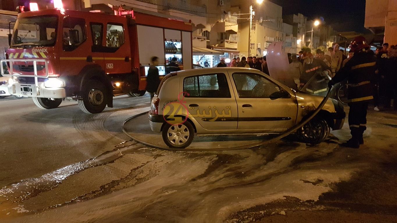 اندلاع حريق في سيارة وسط حي الموظفين بتيزنيت