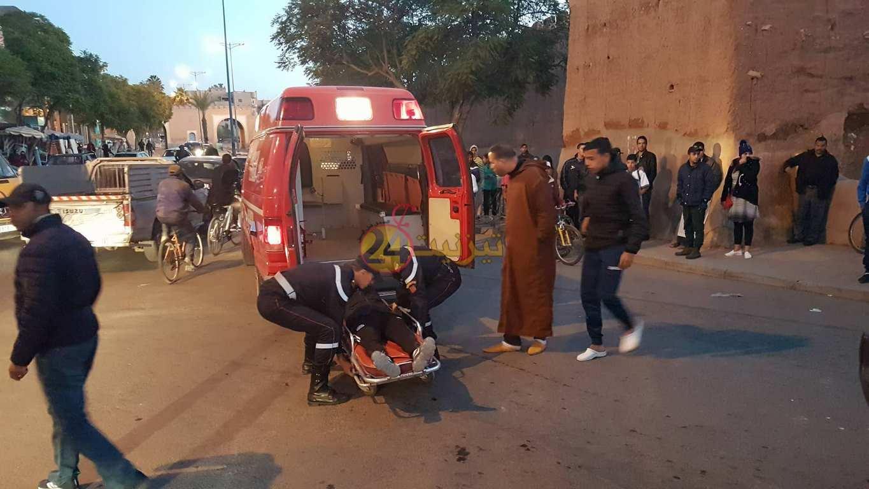 اصابة لاعب أمل تيزنيت لكرة القدم في حادثة وسط تيزنيت