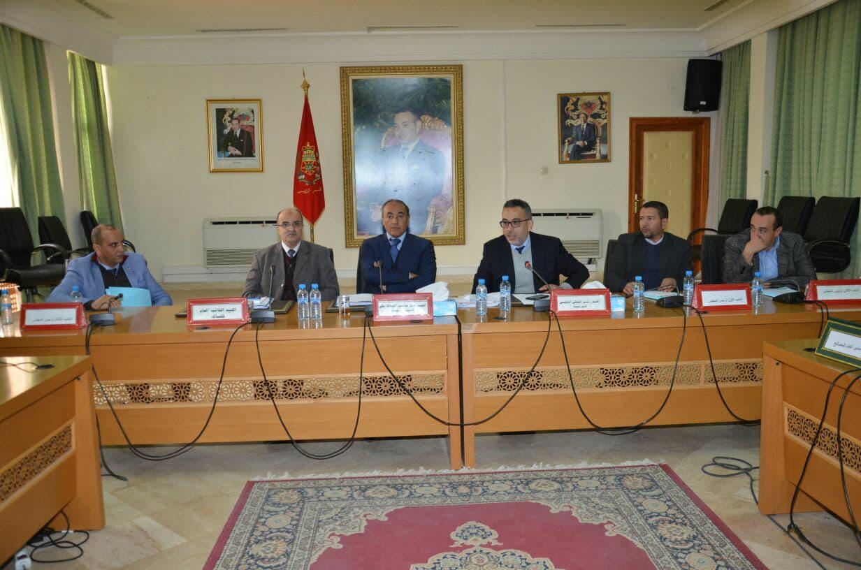 المجلس الاقليمي يصادق بالاجماع على جميع نقط الجلسة الثانية لدورة يناير