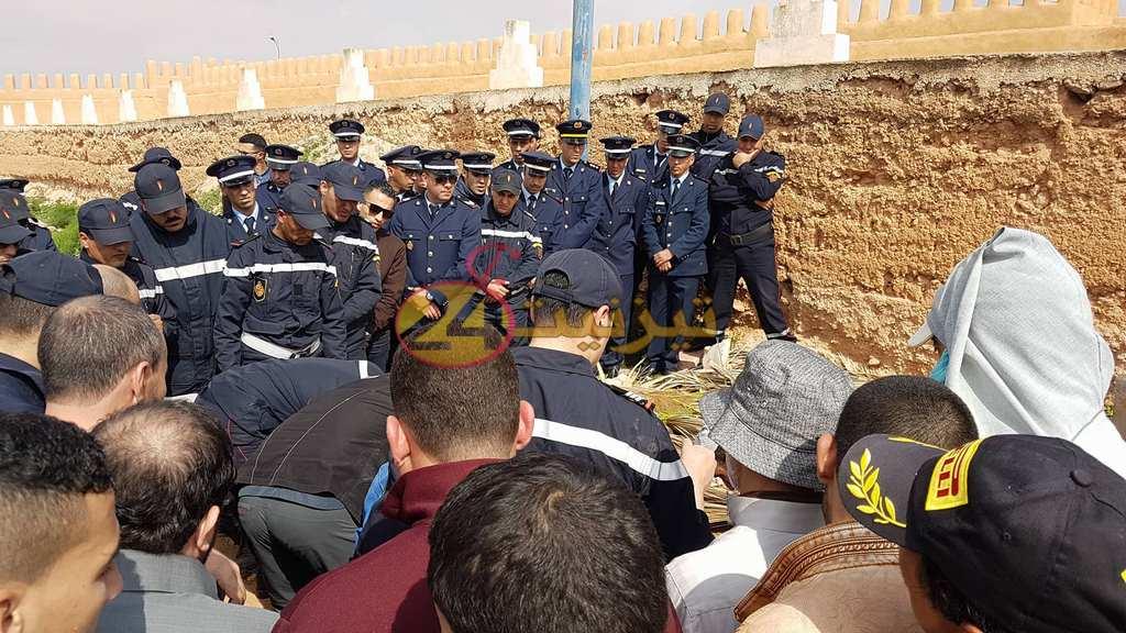 تشييع جنازة ضحايا حادثة السير التي وقعت أمس بين تيزنيت و أولاد جرار