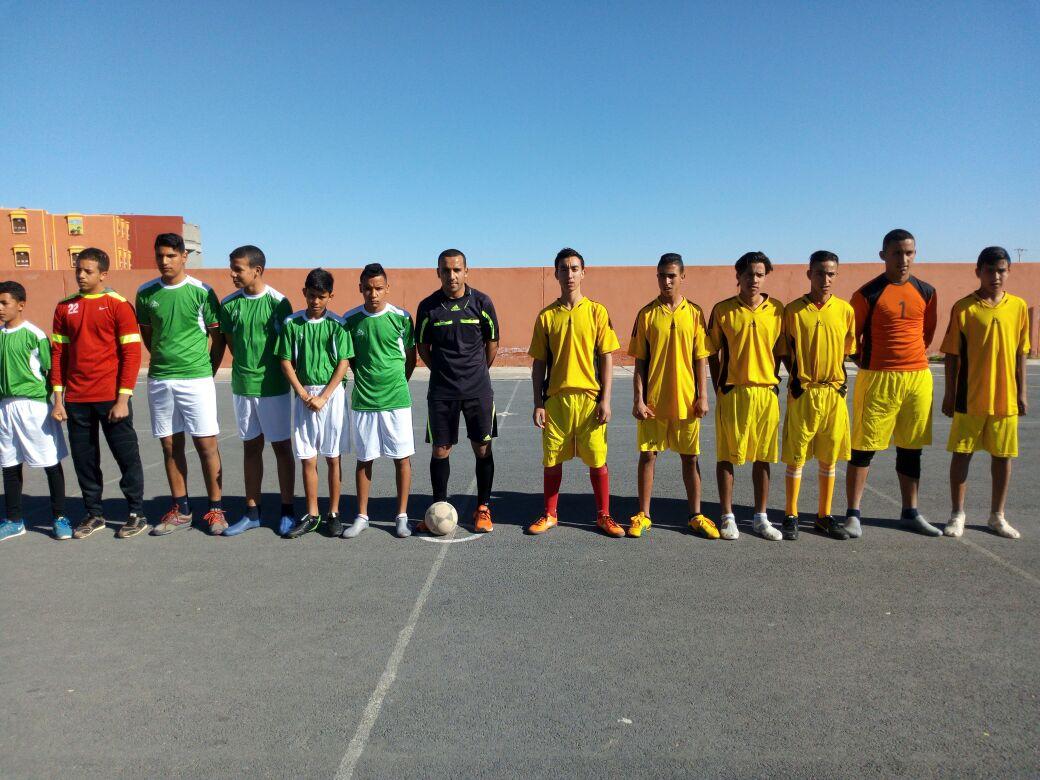 فريقا دار الطالب والطالبة بونعمان لكرة القدم يتأهلان إلى النصف الوطني