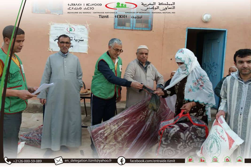 التعاون الوطني بتيزنيت يواصل توزيع المساعدات بمختلف مناطق الإقليم على المعوزين