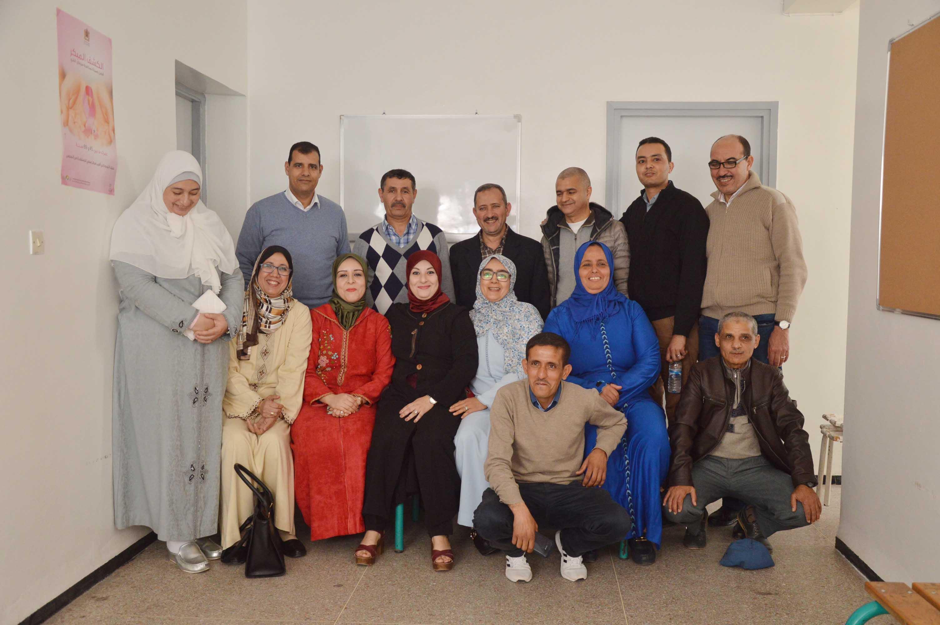 أطر و ممرضي المركز الصحي للمرس يكرمون الدكتور أيت الخضير + صور