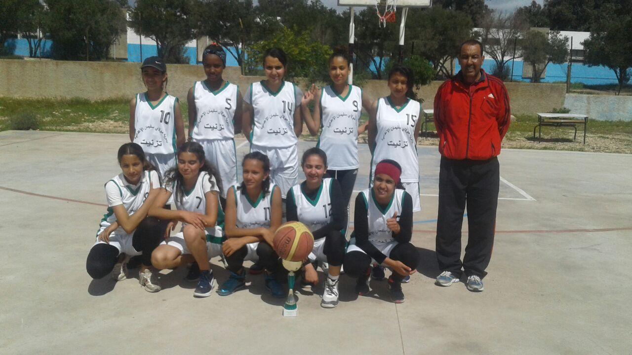 تتويج صغيرات الثانوية الإعدادية مولاي سليمان بلقب ما بين الجهات في كرة السلة المدرسية