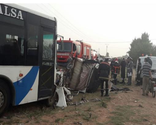 مصرع 9 أشخاص وإصابة 6 آخرين في حادثة سير بإقليم اشتوكة