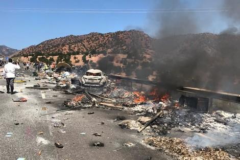 مصرع 6 أشخاص في الطريق السيار بين أكادير و مراكش