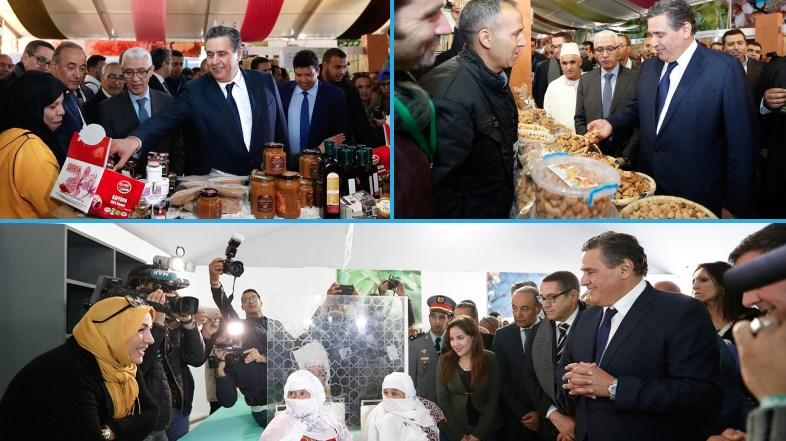 عزيز أخنوش يفتتح معرض المنتجات المحلية على هامش الدورة الثامنة لمهرجان اللوز