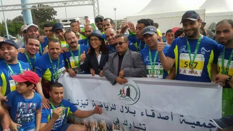 جمعية أصدقاء بلال للرياضة بتيزنيت تشارك في الماراطون الأخضر بأكادير