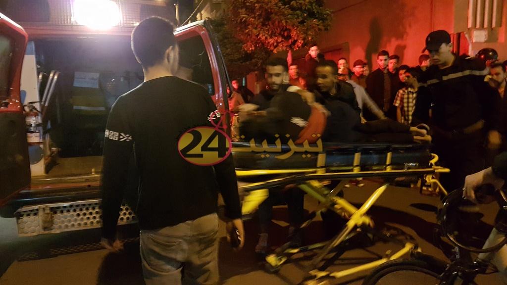 سيارة مجنونة تصدم شاب عشريني وسط حي ودادية الموظفين بتيزنيت