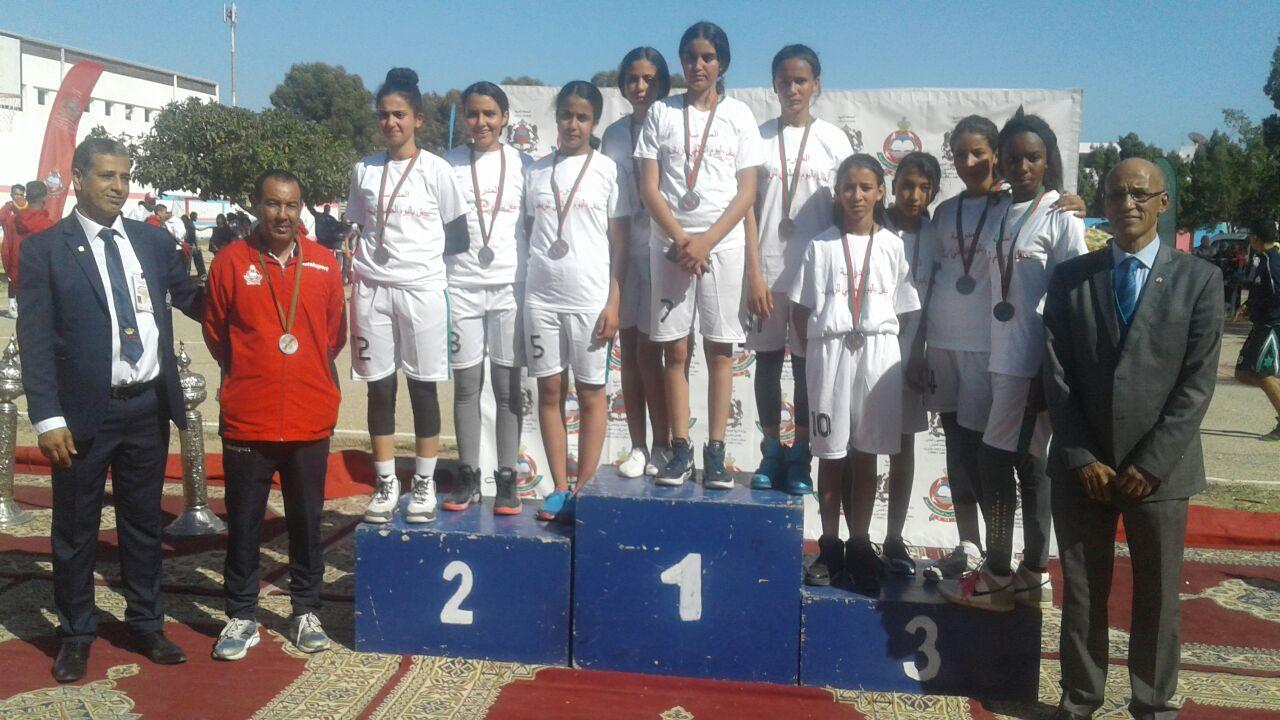 فريق كرة السلة لثانوية مولاي سليمان يفوز بالميدالية الفضية