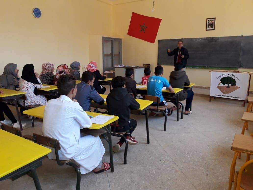 تنظيم إمتحان تجريبي و حصص للدعم لمسنوى الثالث اع بدوار اوشان جماعة الساحل