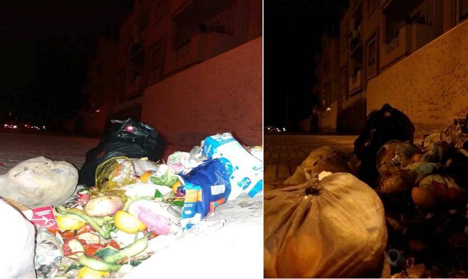 سكان مركب سكني بطريق افني يشتكون من ظاهرة تكدس النفايات