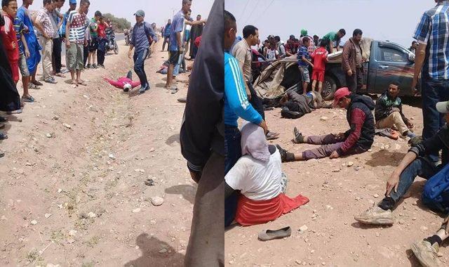 عربات الموت باشتوكة .. مقتل شاب وجرح 17 عاملا في حادثة سير