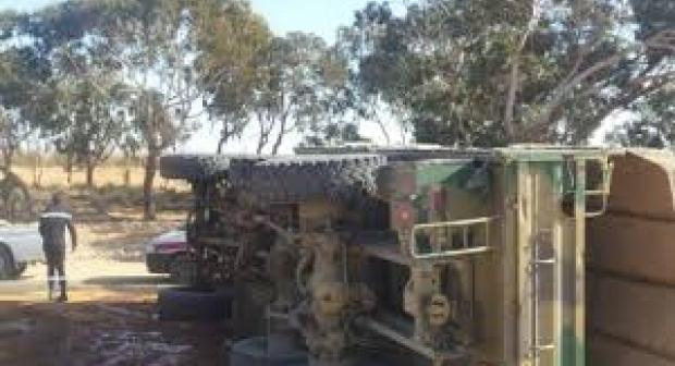 أسا الزاك : انقلاب شاحنة عسكرية يخلف مصرع جندي وإصابة خمسة آخرين بجروح بليغة