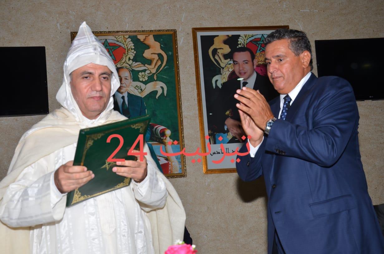 """""""عزيز أخنوش """" يشرف على تنصيب العامل الجديد لاقليم تيزنيت السيد """" حسن خليل """""""