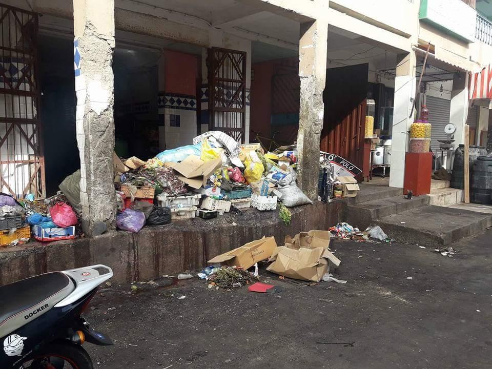 تيزنيت تستفيق على أكوام من النفايات و الأزبال