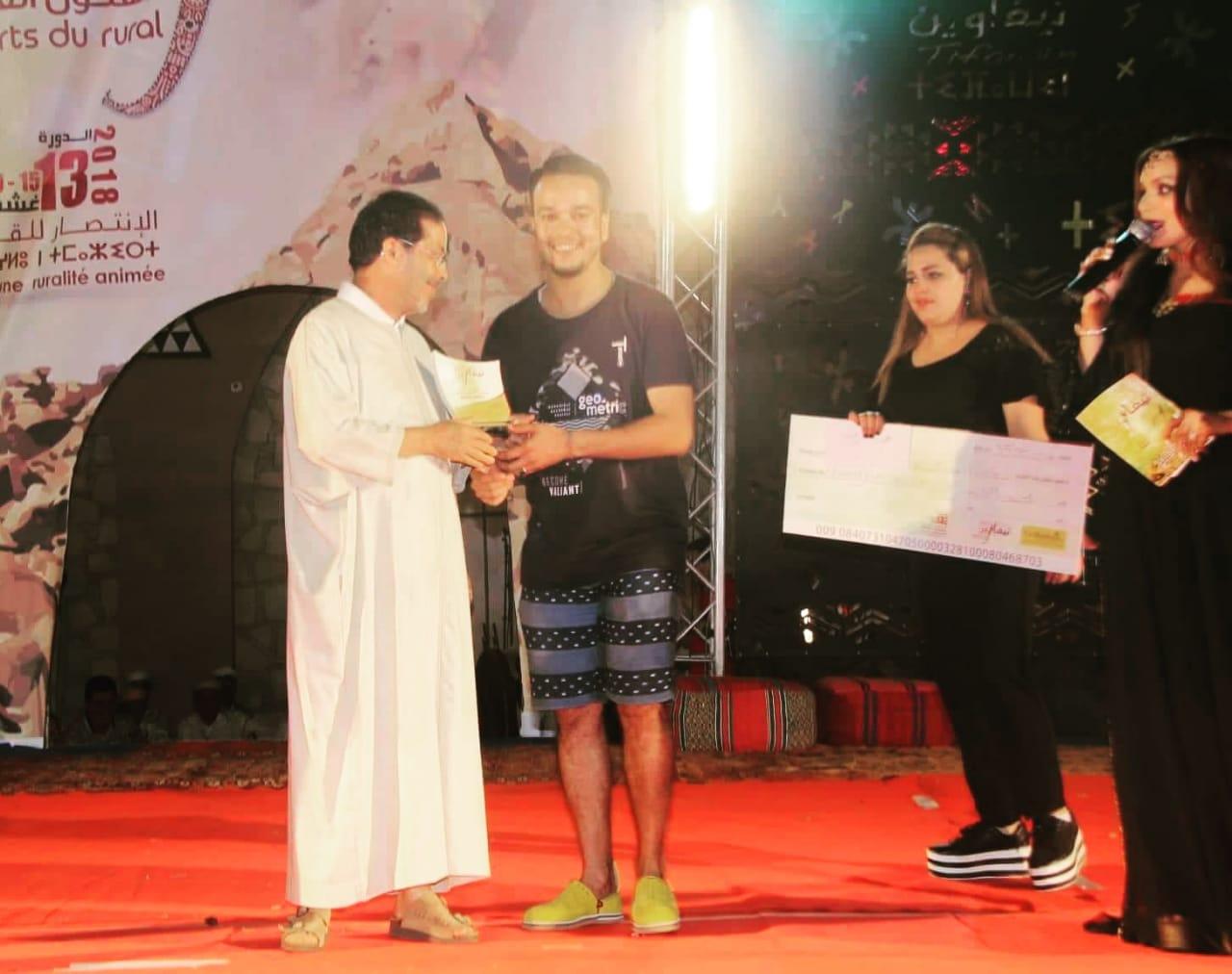 الديواني واغزيف و أوبلا يفوزون بجائزة أوشاكور للصحافة بفستيفال تيفاوين للفنون القروية