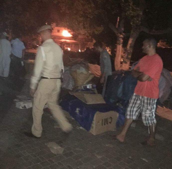 انزال كثيف للقوات العمومية ليلا بمدينة تارودانت لتحرير الملك العمومي