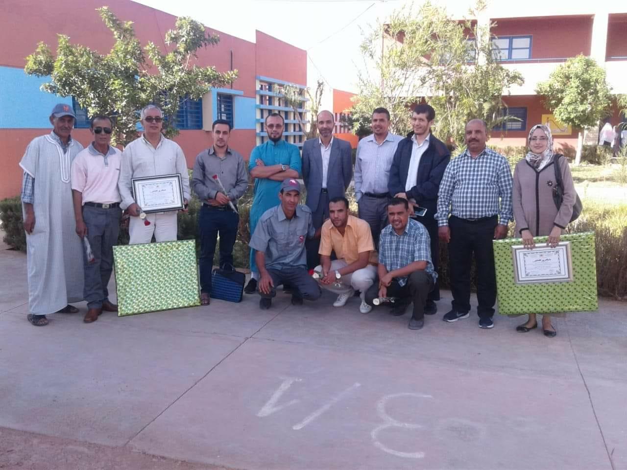 الثانوية الاعدادية عمر بن شمسيبوجان تحتفل باليوم العالمي للمدرس