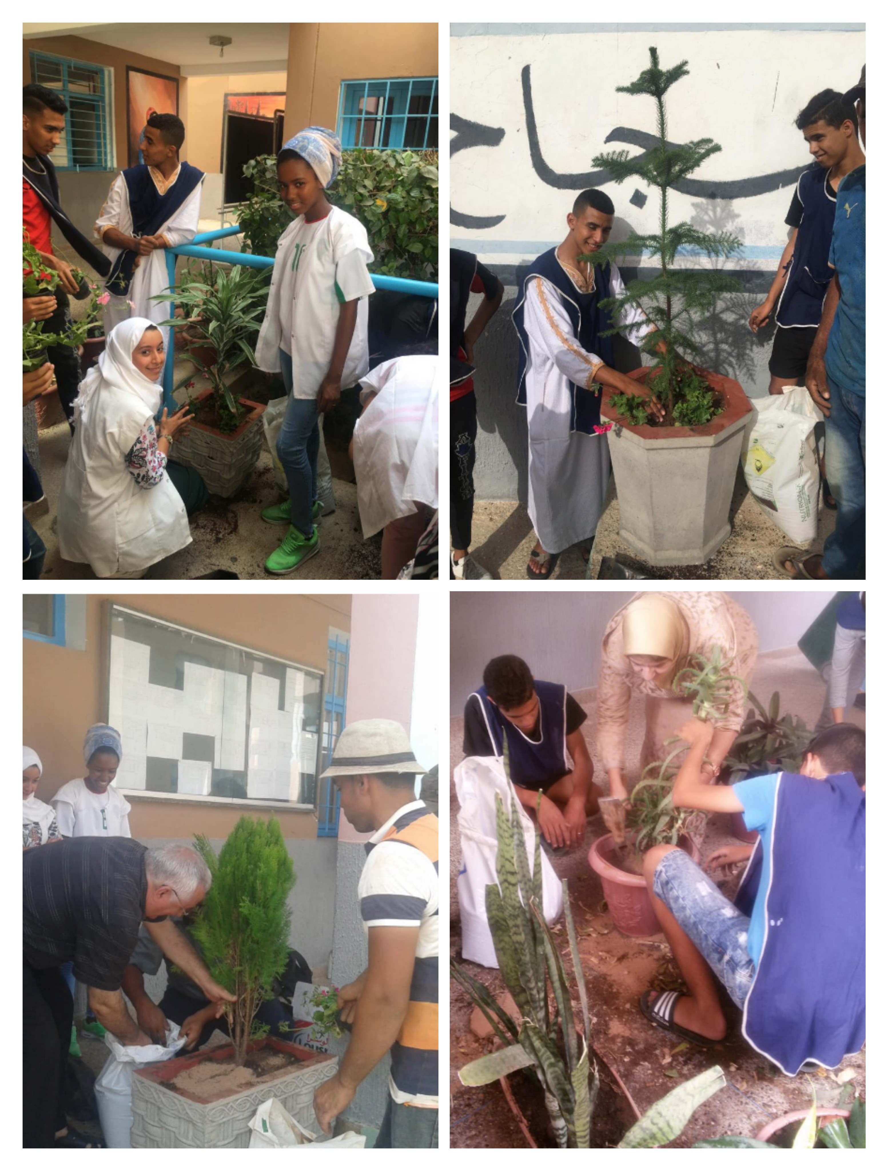 بالصور : نشاط بيئي لتلاميذ ثانوية مولاي سليمان
