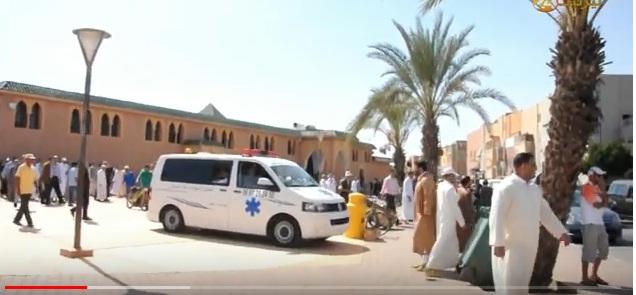 بالفيديو : مراسيم تشيع جنازة رجل الاعمال التيزنيتي الحاج لحسن أوبيهي