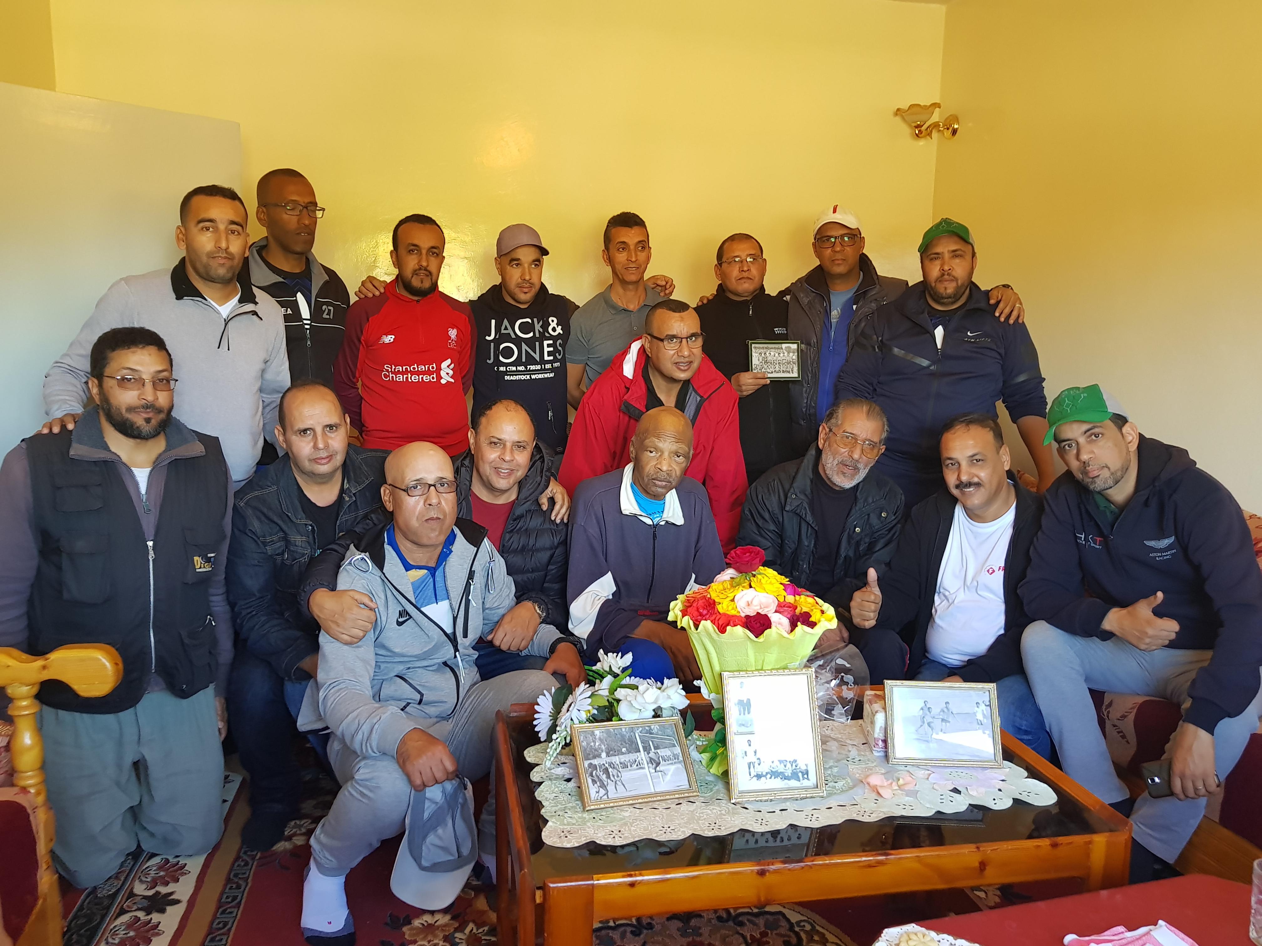 فاعلون رياضيون في زيارة ود وتكريم لقيدوم لاعبي أمل تيزنيت حمو سرحان
